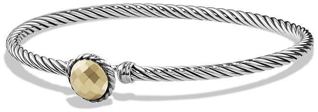 David Yurman Ch'telaine Bracelet with Gold Dome and 18K Gold