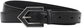 Saint Laurent 20mm Leather Bele W/ Arrow Buckle