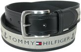 Tommy Hilfiger Men's Leather Casual Belt with Fabric Inlay