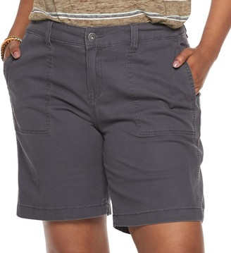 UNIONBAY Juniors' Plus Size Stretch Twill Bermuda Shorts