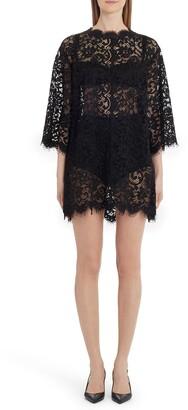 Dolce & Gabbana Sheer Eyelash Lace Shift Dress