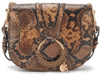 See by Chloe Hana bag embossed python