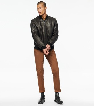 Andrew Marc Summit Baseball Leather Bomber