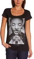 Eleven Paris Women's WOLY W Printed Round Collar Short Sleeve T-Shirt - black - 8 (XS)