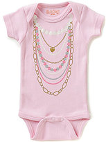Sara Kety Baby Girls Newborn-18 Months Necklaces Short-Sleeve Bodysuit