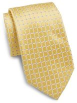 Saks Fifth Avenue Movement Dot Silk Tie