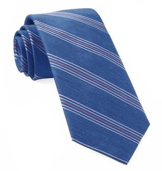 The Tie Bar Light Cobalt Blue Derby Lane Stripe Tie