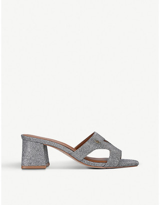 Kurt Geiger Odina Block metallic woven sandals