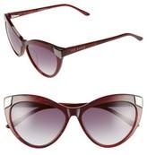 Ted Baker Women's 57Mm Cat Eye Sunglasses - Purple