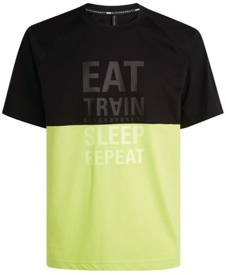 Neil Barrett Colour-Block Slogan T-Shirt