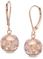 Zales Diamond-Cut Disco Ball Drop Earrings in 10K Rose Gold