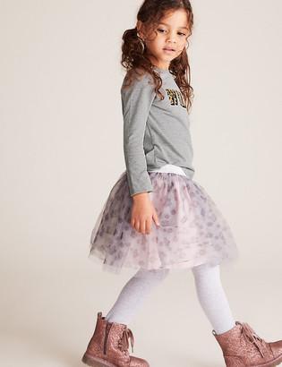 Marks and Spencer Tulle Leopard Print Tutu Skirt (2-7 Yrs)