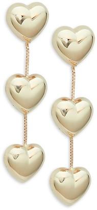 Saks Fifth Avenue Made In Italy 14K Yellow Gold Heart Drop Earrings