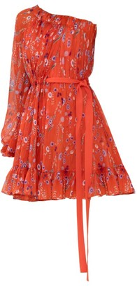 Alexis Edyta Floral Asymmetrical Mini Dress