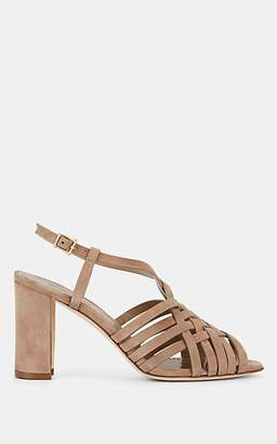 Manolo Blahnik Women's Edita Suede Sandals - Taupe Suede