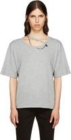 Stella McCartney Grey Falabella Cut-Out T-Shirt