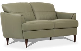Corrigan Studio Bova Leather Loveseat Corrigan Studio