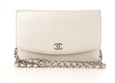 Chanel Silver Caviar Sevruga WOC Wallet On Chain