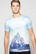 Boohoo Rio Print T Shirt