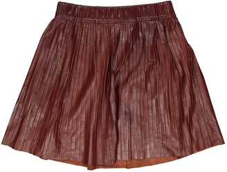 Isabel Marant Brown Leather Skirt for Women