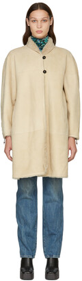 Isabel Marant Reversible Beige Abazoe Shearling Coat