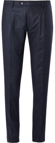 Etro Striped Wool-Blend Trousers