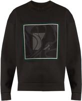 Wooyoungmi Abstract square-print neoprene sweatshirt