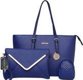 Donaword Women Cassic Enveop Pueather Handbag Set
