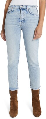 Mother The Tomcat High Waist Button Fly Ankle Jeans