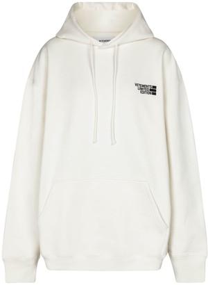 Vetements Logo oversized cotton-blend hoodie
