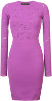Versace embroidered fitted dress - women - Polyester/Viscose - 38