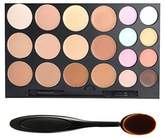 Tinabless 20 Colour Makeup Concealer Palette Kits Camouflage Make Up Full Coverage Concealers + Toothbrush Oval Brush by Tinabless