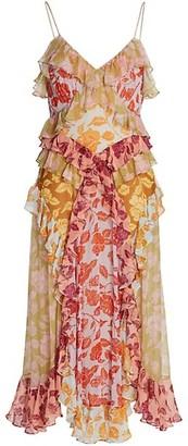 Zimmermann Lovestruck Ruffle Slip Dress