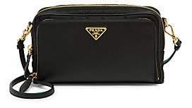 Prada Women's Nylon & Saffiano Leather Mini Crossbody Bag