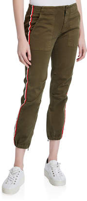 Pam & Gela Side-Stripe Cargo Pants with Elastic Hem