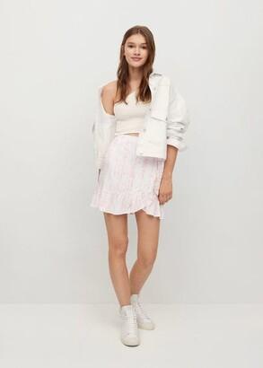 MANGO Tie-dye ruffle skirt