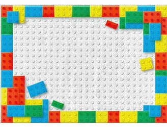 Lego East Urban Home Red Area Rug East Urban Home Rug Size: Rectangle 5' x 7'