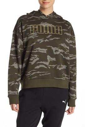 Puma Camo Cropped Hoodie