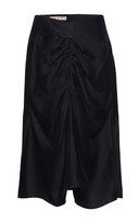 Marni Gathered Ruching Midi Skirt