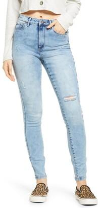 Vero Moda High Waist Ripped Skinny Jeans