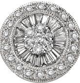 Diamond Disc Earrings