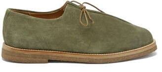 Jacques Soloviere - Ray Lace-up Suede Shoes - Khaki