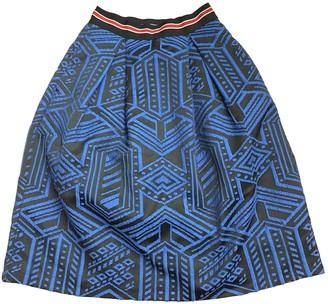 Pinko Blue Cotton Skirt for Women