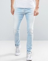 Replay Jondrill Skinny Fit Jeans Sunbleached Wash