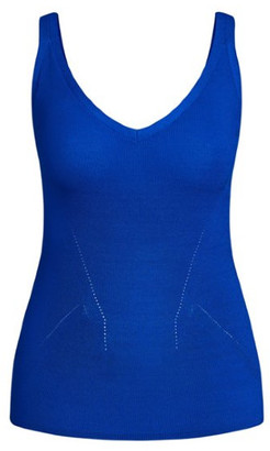 City Chic Knitted Basic Cami - cobalt