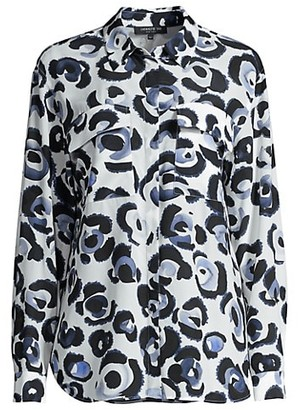 Lafayette 148 New York Zora Printed Silk Blouse