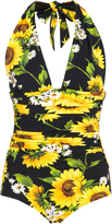 Dolce & Gabbana Floral-Print One-Piece Swimsuit