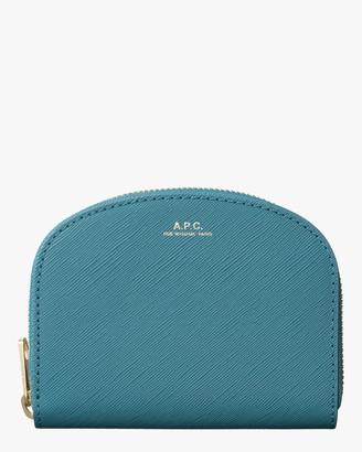 A.P.C. Blue Compact Demi-Lune Change Purse