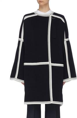Chloé Contrast paneled raglan knit cardigan