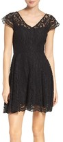 BB Dakota Women's 'Reece' Lace Fit & Flare Dress